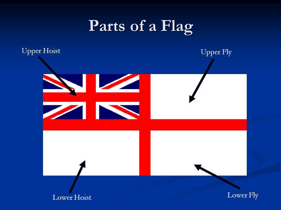 Parts of a Flag Upper Hoist Upper Fly Lower Fly Lower Hoist