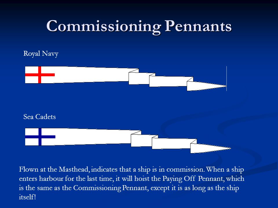 Commissioning Pennants