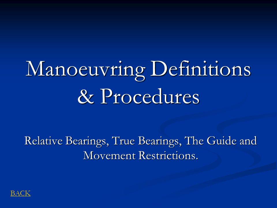 Manoeuvring Definitions & Procedures