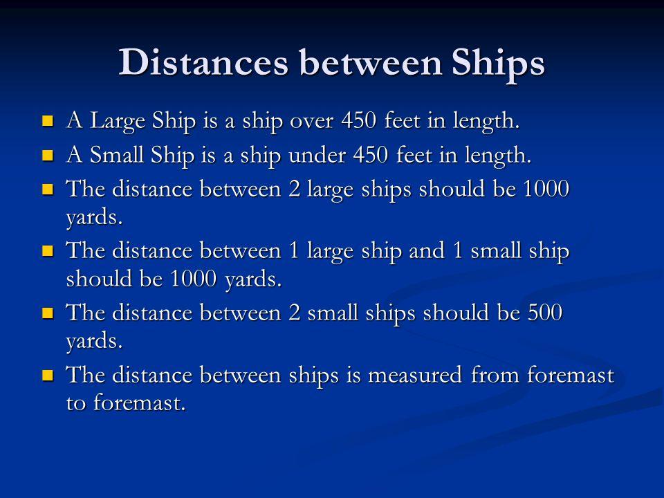 Distances between Ships