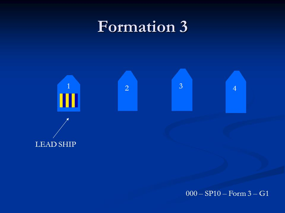 Formation 3 3 2 4 1 LEAD SHIP 000 – SP10 – Form 3 – G1