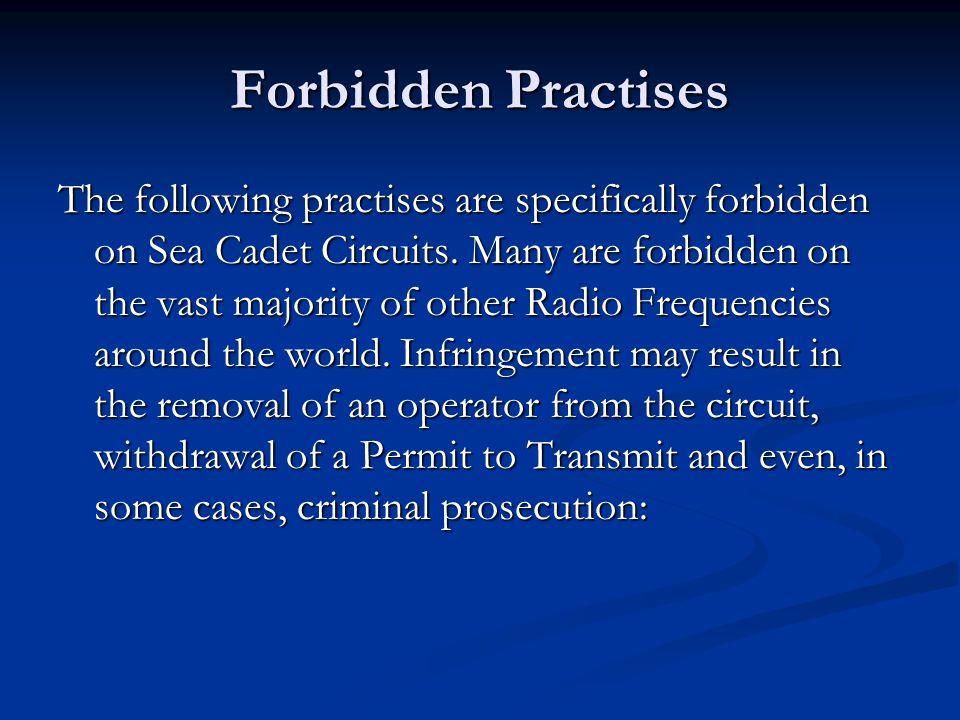 Forbidden Practises