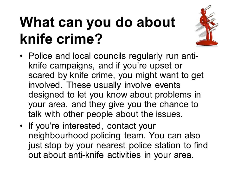 What can you do about knife crime
