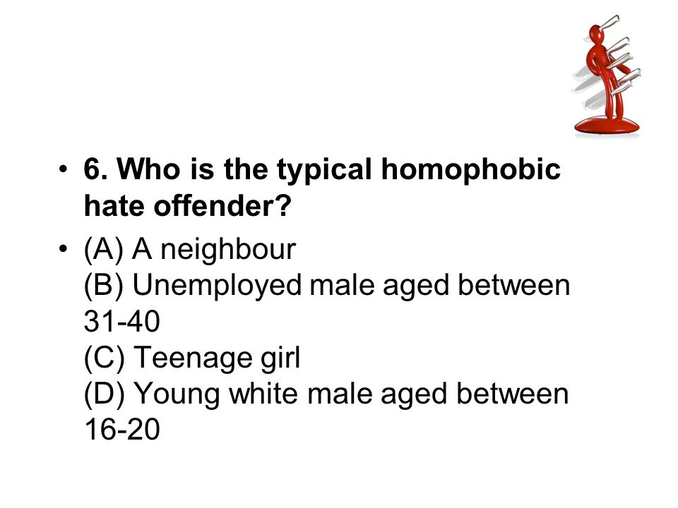 6. Who is the typical homophobic hate offender