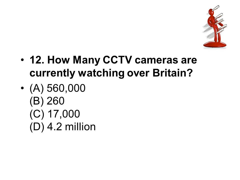 12. How Many CCTV cameras are currently watching over Britain