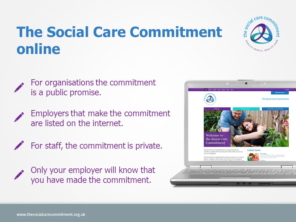 The Social Care Commitment online