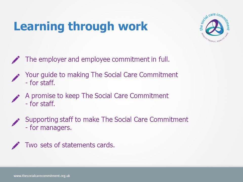 Learning through work The employer and employee commitment in full.