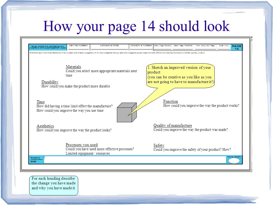 How your page 14 should look
