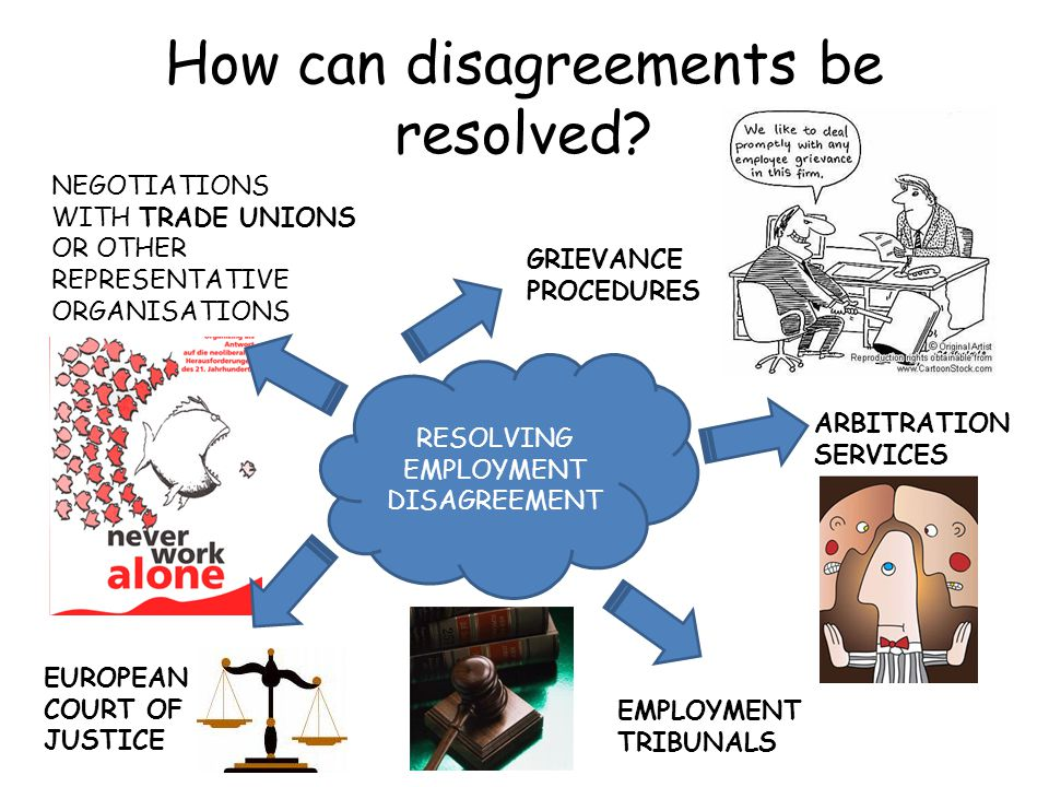 How can disagreements be resolved