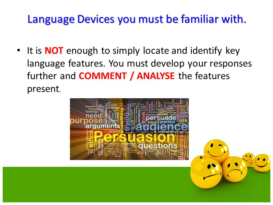 Language Devices you must be familiar with.