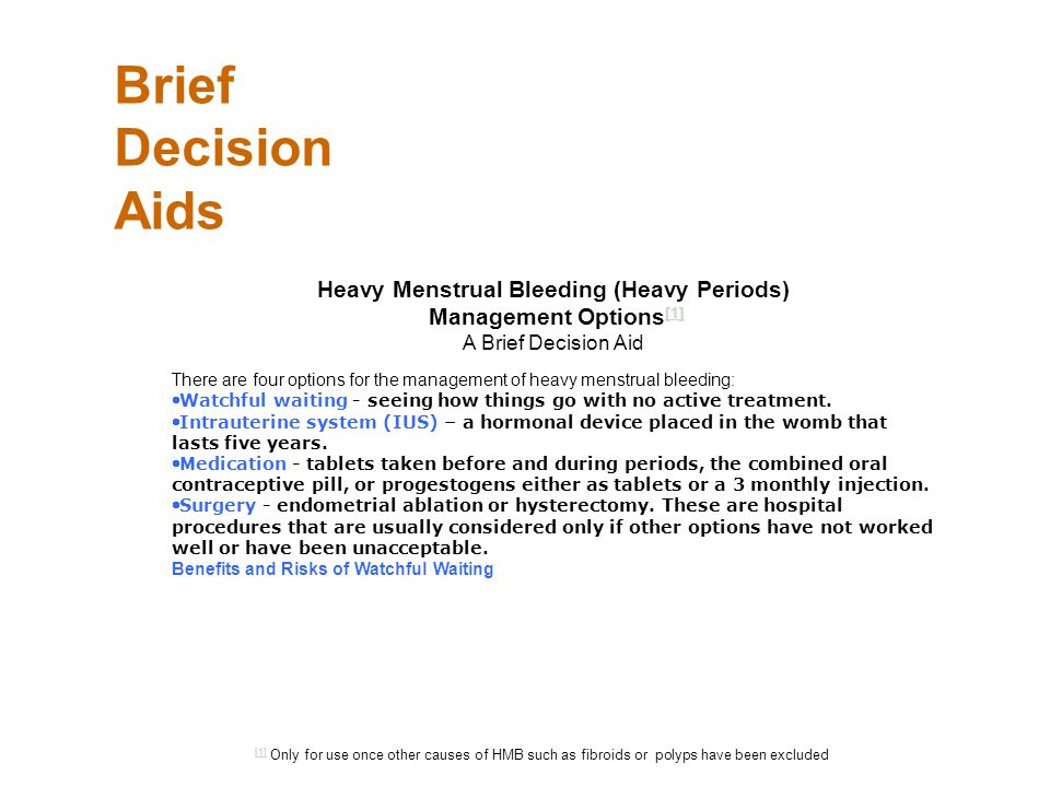 Heavy Menstrual Bleeding (Heavy Periods)