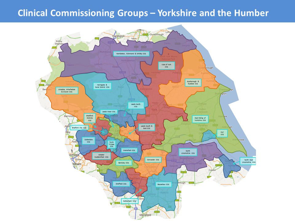 Clinical Commissioning Groups – Yorkshire and the Humber