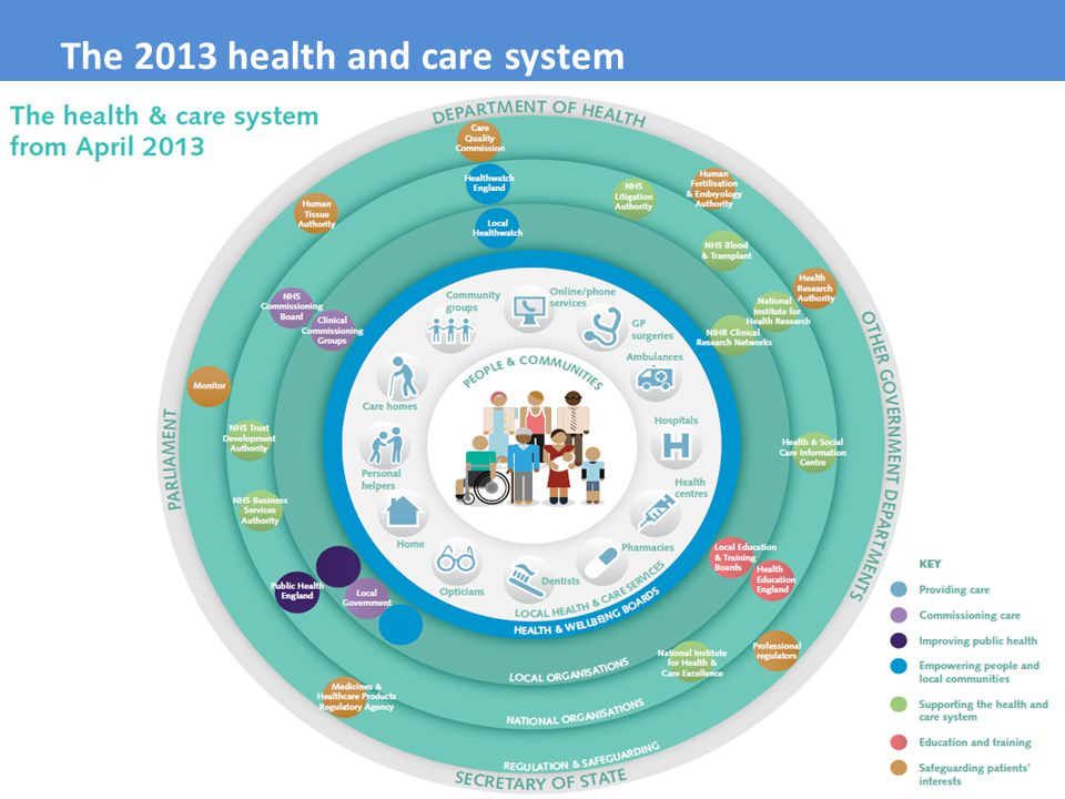 The 2013 health and care system