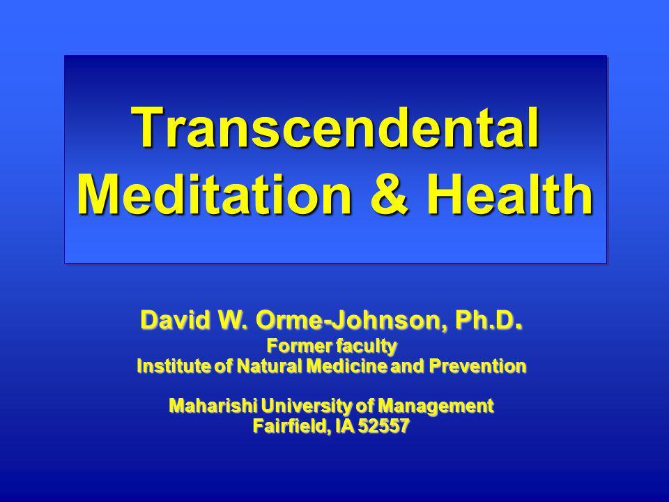 Transcendental Meditation & Health