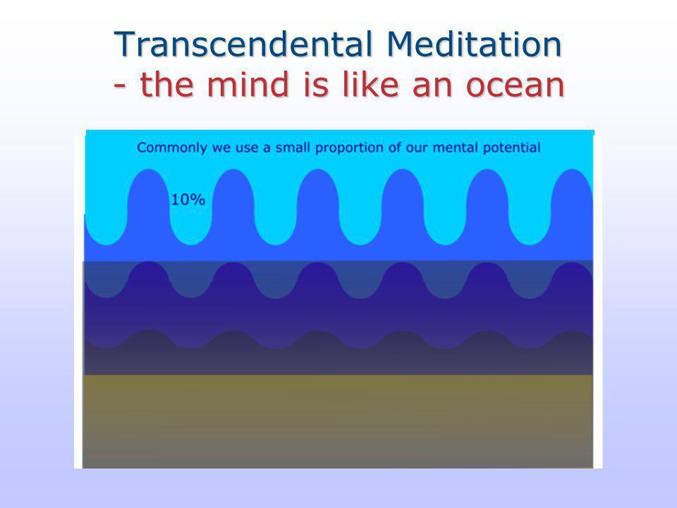 Transcendental Meditation - the mind is like an ocean