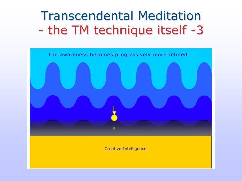 Transcendental Meditation - the TM technique itself -3