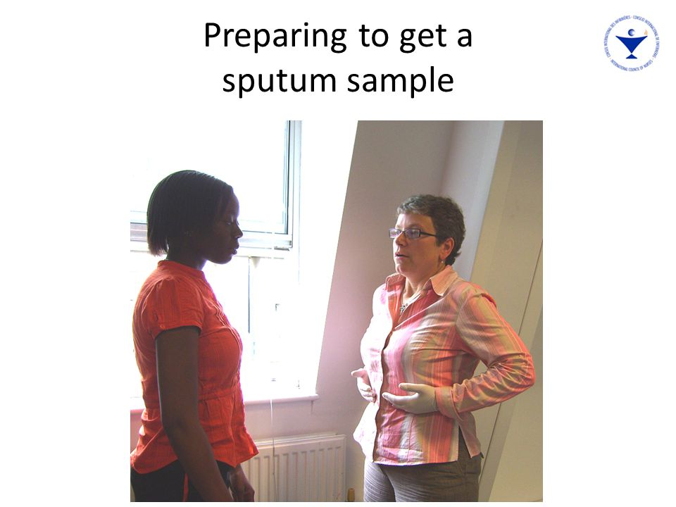 Preparing to get a sputum sample