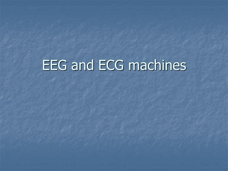 EEG and ECG machines