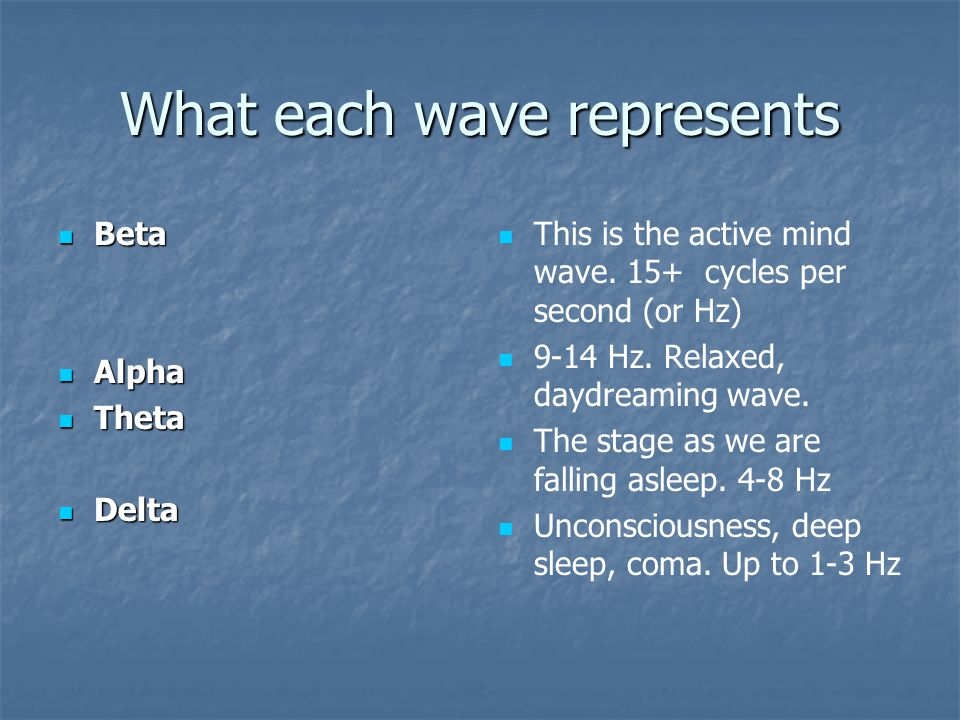 What each wave represents