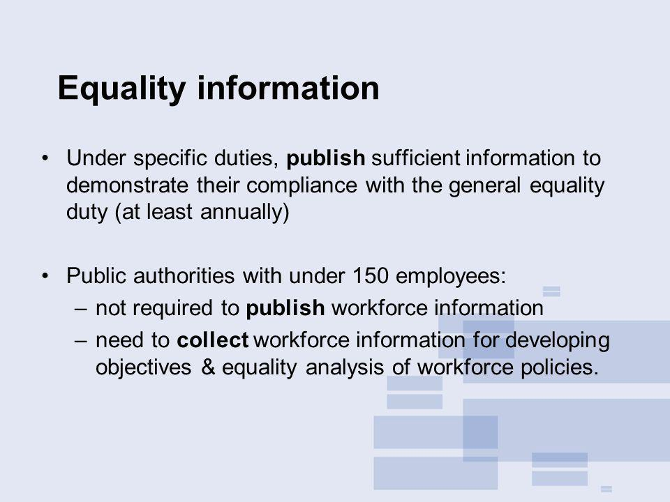 Equality information