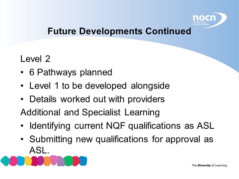 Future Developments Continued