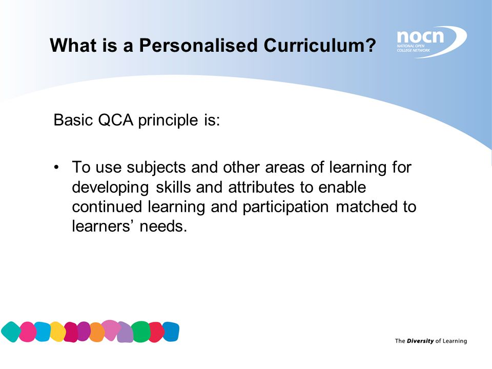 What is a Personalised Curriculum