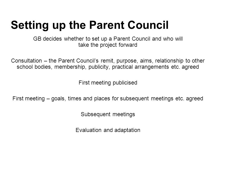 Setting up the Parent Council