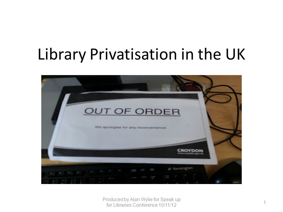 Library Privatisation in the UK