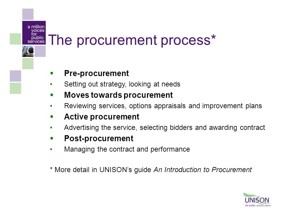 The procurement process*