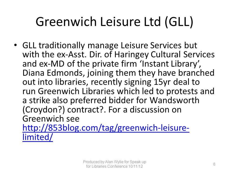 Greenwich Leisure Ltd (GLL)