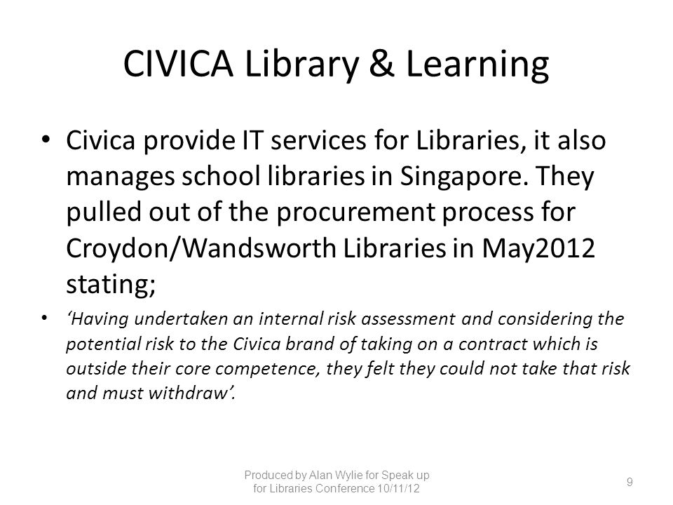 CIVICA Library & Learning