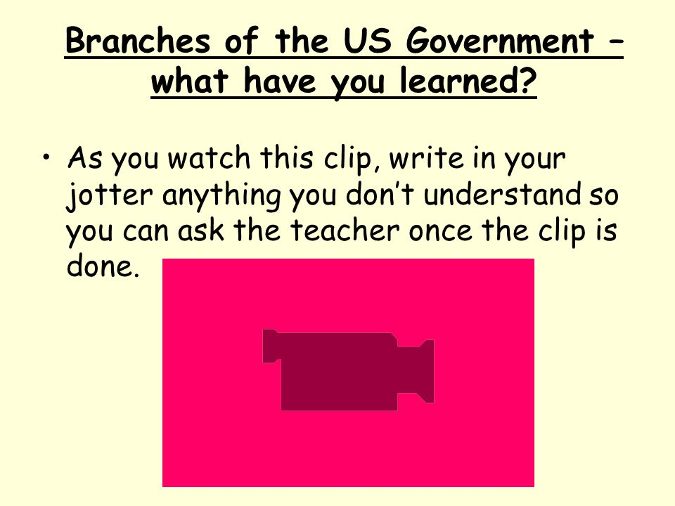 Branches of the US Government – what have you learned