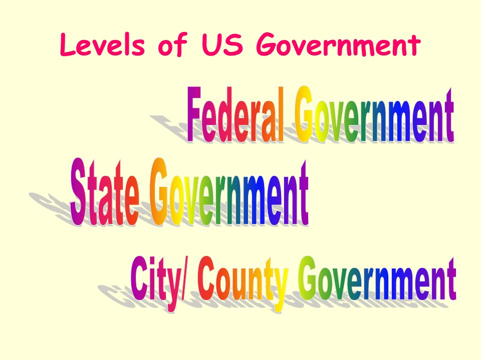 Levels of US Government