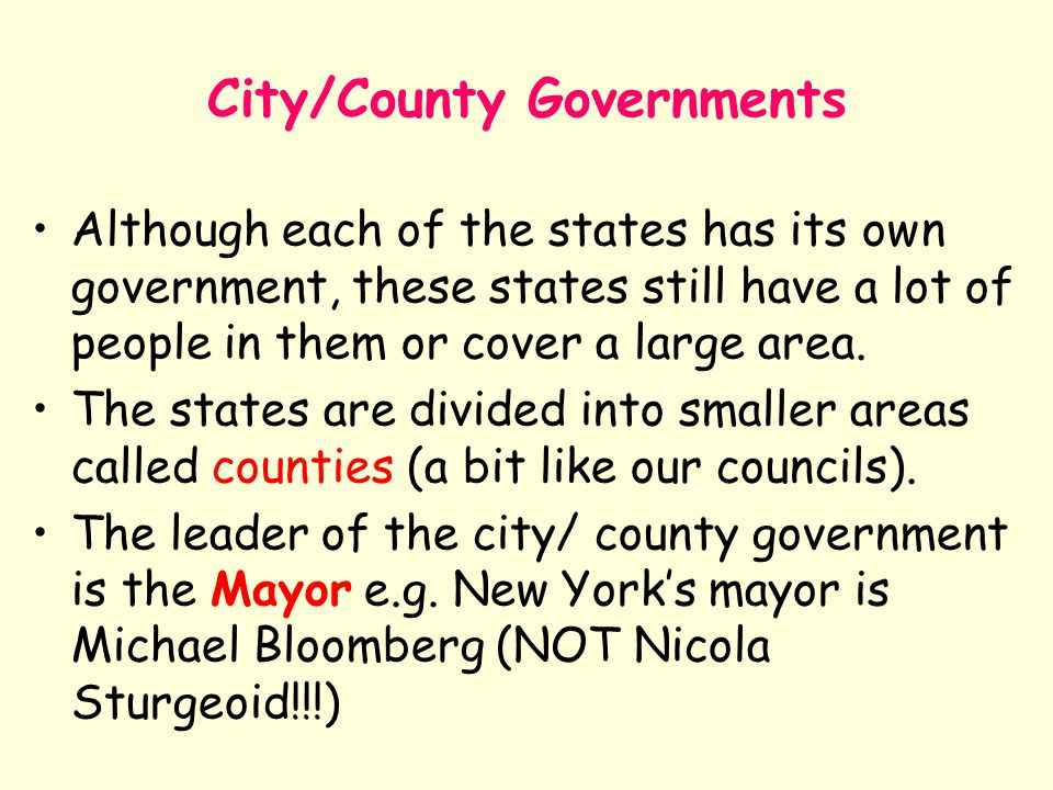 City/County Governments