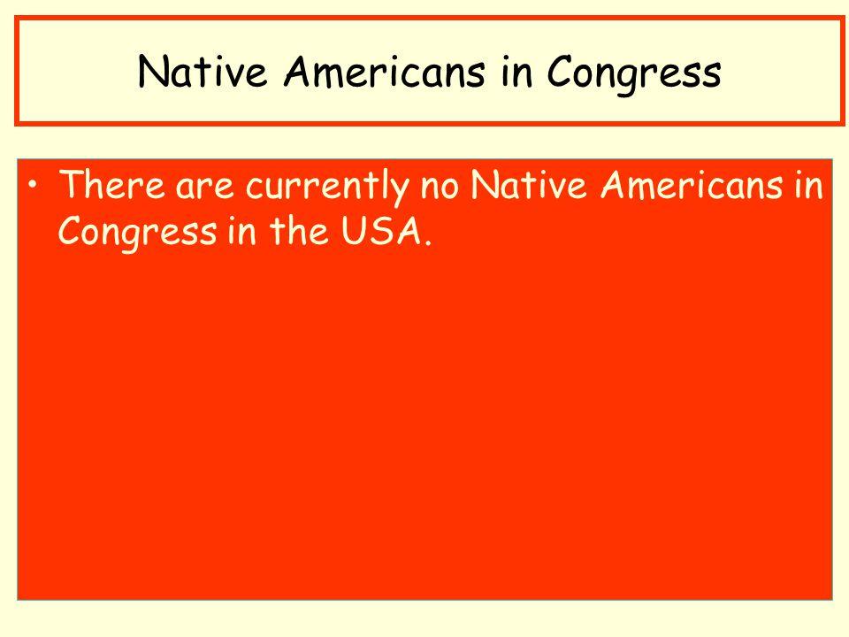 Native Americans in Congress