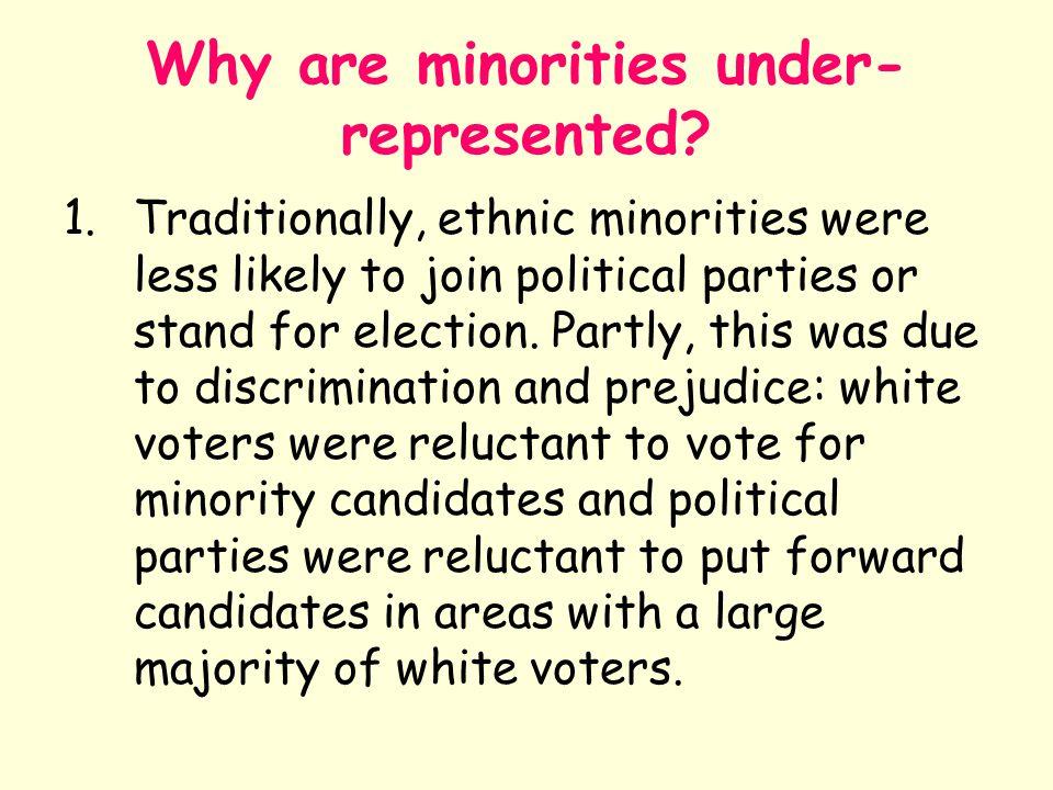 Why are minorities under-represented