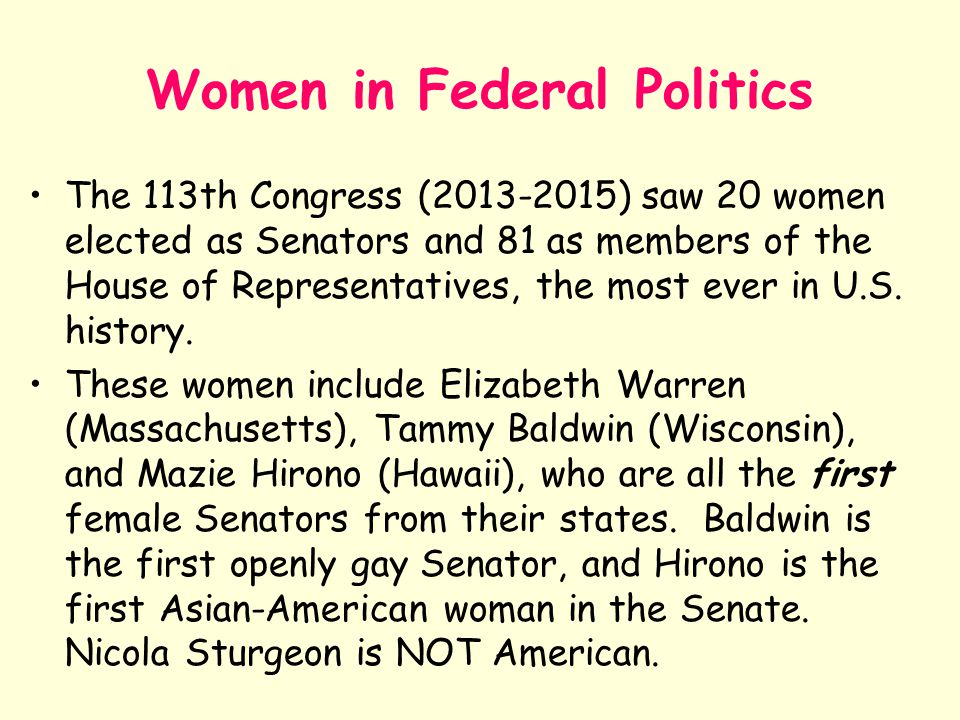 Women in Federal Politics