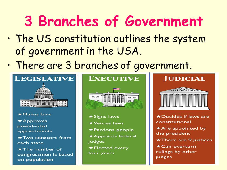 An analysis of the three branches of government in the united states