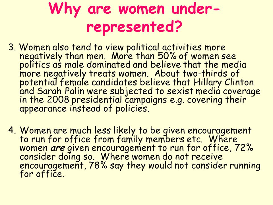 Why are women under-represented
