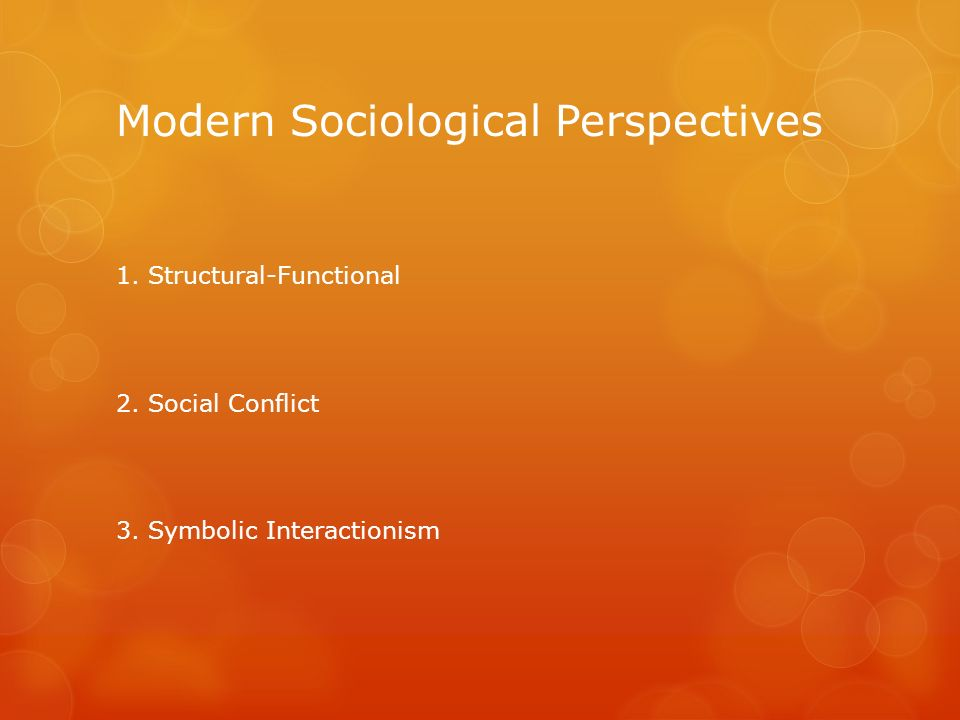 Modern Sociological Perspectives