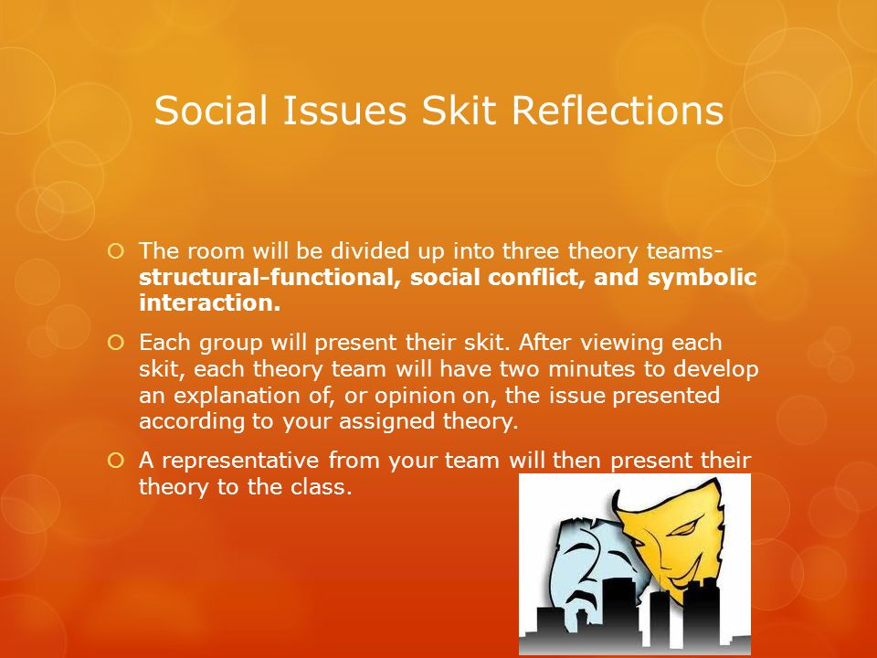 Social Issues Skit Reflections