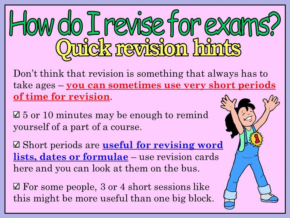 How do I revise for exams