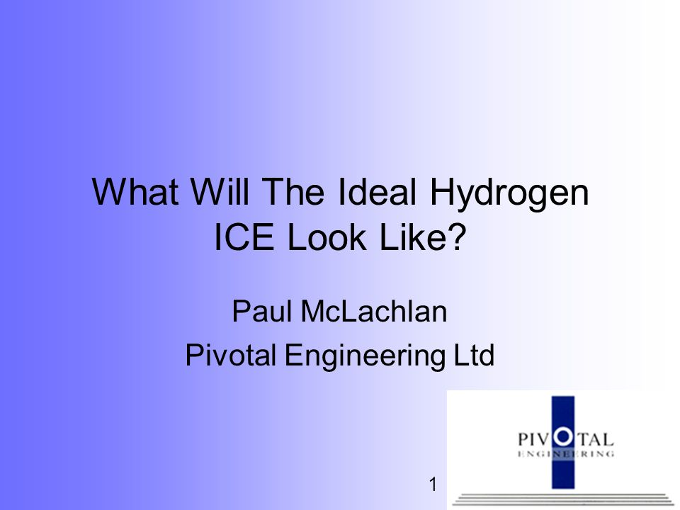 What Will The Ideal Hydrogen ICE Look Like