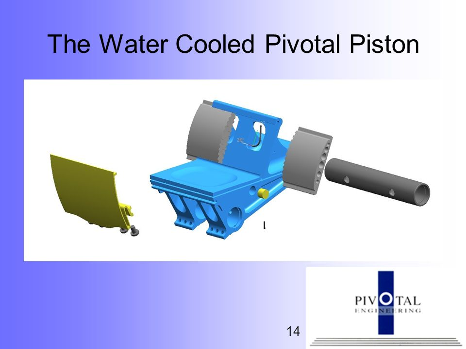 The Water Cooled Pivotal Piston