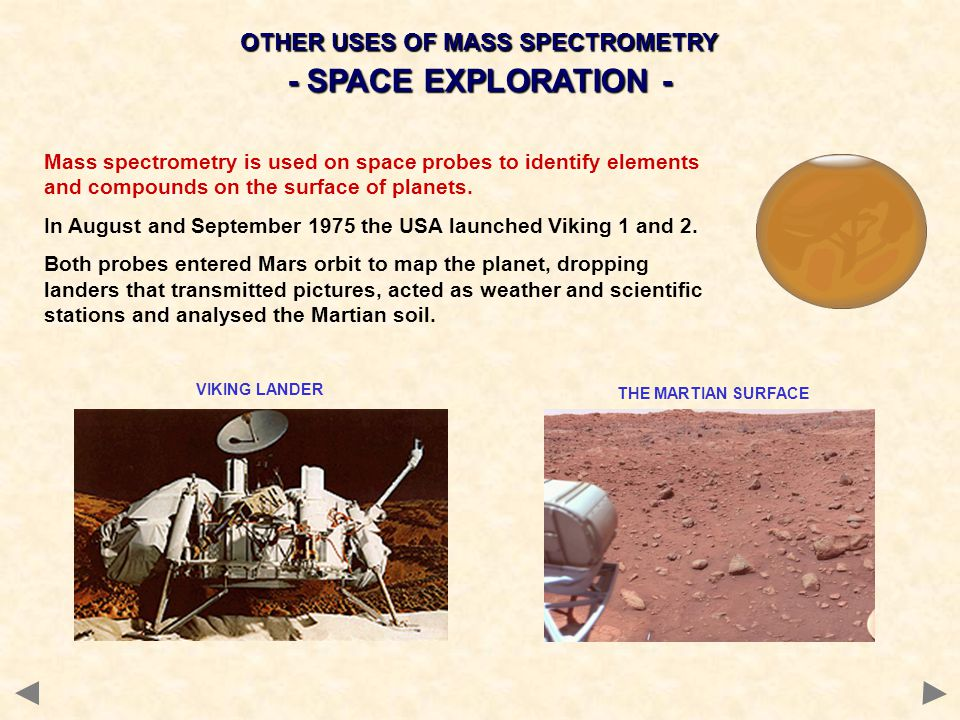 OTHER USES OF MASS SPECTROMETRY