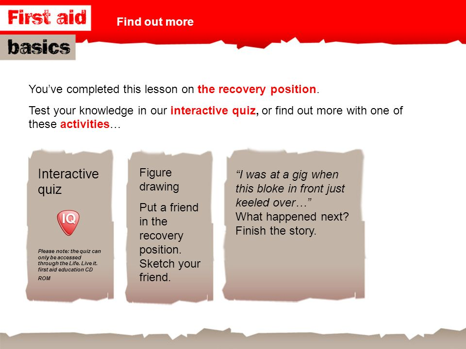Interactive quiz Find out more