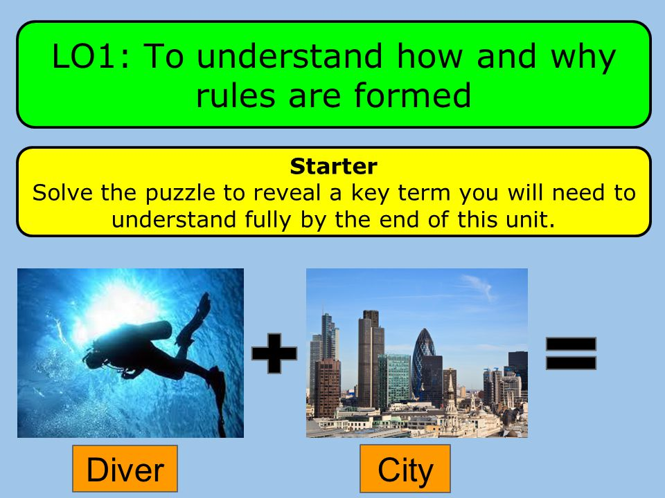 LO1: To understand how and why rules are formed