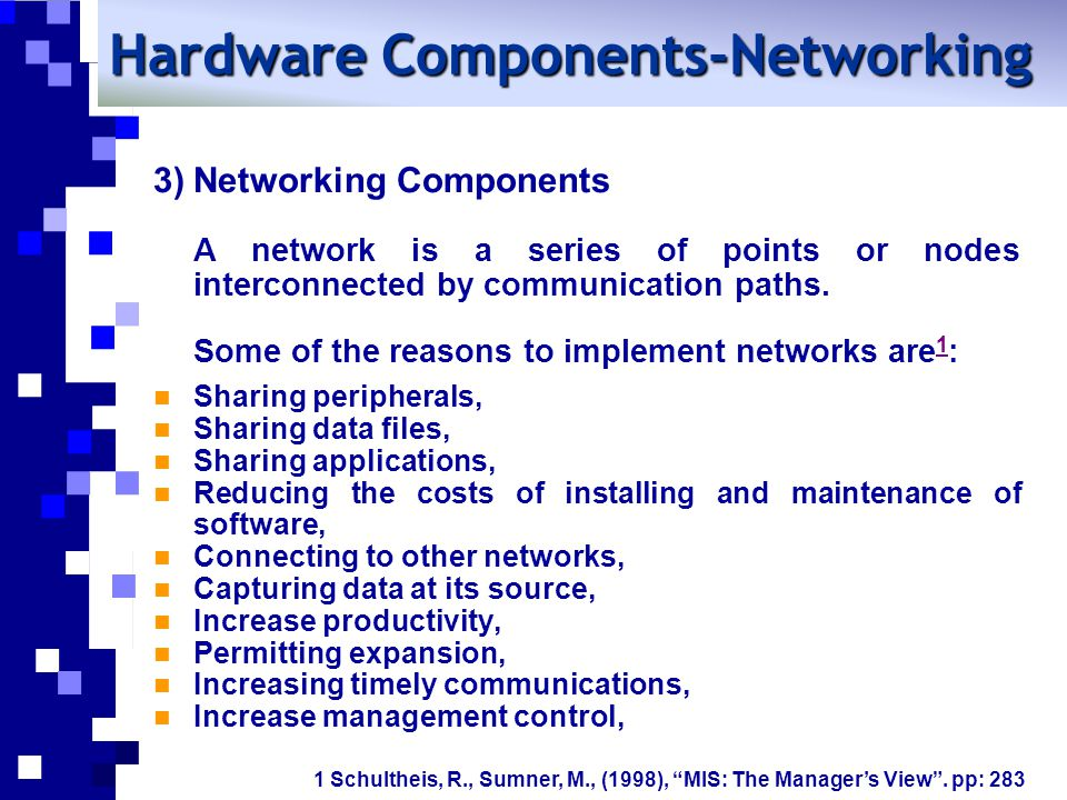 Hardware Components-Networking
