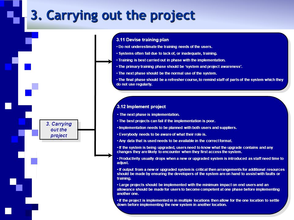 3. Carrying out the project