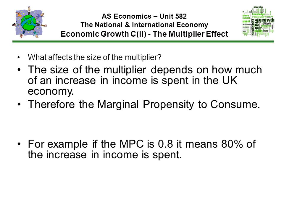 Therefore the Marginal Propensity to Consume.